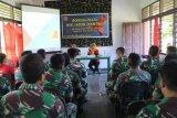 Prajurit TNI Pamtas dibekali pengetahuan tentang bahaya virus HIV/AIDS