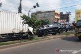 Penyebab kecelakaan beruntun, Polisi tetapkan pengemudi Fortuner tersangka
