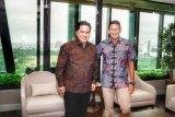 Erick Thohir dan Sandiaga Uno bertemu, bahas seputar pengelolaan BUMN