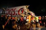 Sebuah pesawat tergelincir tewaskan satu orang dan 157 cedera di Istanbul