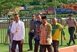 Presiden Jokowi tiba di arena utama Peringatan HPN 2020