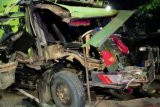 Akibat rem blong, konvoi truk sampah alami kecelakaan