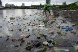 Sampah di Pantaiu CPI Makassar