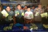 TNI AL amankan 11 kg sabu dan 63 ribu ekstasi di Perairan Meranti