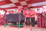 Festival rebana dan pasar rakyat meriahkan HUT ke-47 PDIP di Kobar
