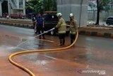 Jakarta banjir, polisi merekayasa lalu lintas