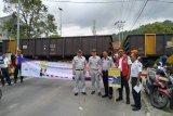 Jasa Raharja Lampung sosialisasi keselamatan berlalu lintas bersama KAI dan Dishub