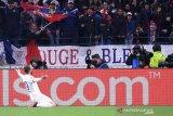 Ronaldo tak bisa berbuat banyak saat Juventus ditaklukkan Lyon