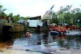 Polres Barsel lakukan simulasi penyelamatan korban saat banjir