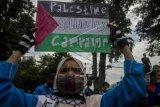 Aksi buruh dukung Palestina di Bandung