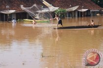 Banjir  rendam ratusan rumah di Tulangbawang