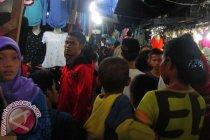 Pengunjung Pasar Senggol diatur satu arah agar tidak berkerumun