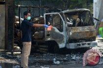 Sebuah SPBU di Kota Padang terbakar