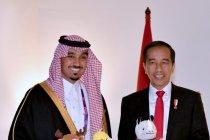 Presiden Jokowi terima Pangeran Abdulaziz bin Turki Al Faisal bin Abdulaziz Al Saud