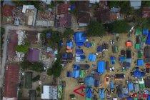Pasukan bermotor TNI sisir area pengungsian Lombok Utara