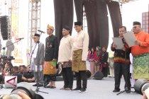 KPU, Jokowi dan Prabowo deklarasikan Pemilu damai
