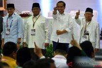 Jokowi dan Prabowo banyak berbincang di acara deklarasi damai