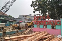 RPTRA Krendang berantakan imbas pembangunan turap