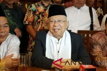 Ma\'ruf Amin menghadiri upacara Hari Santri Nasional di Tasikmalaya