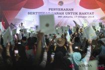 Jokowi bagikan 10 ribu sertifikat tanah di Jakarta Utara
