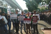Mahasiswa demo Polri agar tak izinkan silaturahim kekhalifahan se-dunia