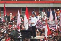 Kampanye di Jember, Jokowi paparkan tiga kartu program kerja