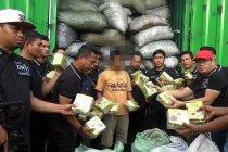 Polisi gagalkan pengiriman sabu dengan truk kontainer