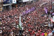 Unjuk rasa menuntut mundurnya para pemimpin Hong Kong