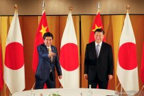 Pertemuan bilateral Shinzo Abe dan Xi Jinping