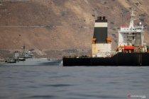 Kondisi kapal tanker minyak milik Iran, Grace 1 usai ditahan Angkatan Laut Kerajaan Inggris