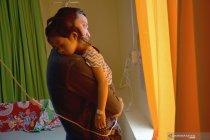 Bocah penderita ISPA akibat karhutla di Riau