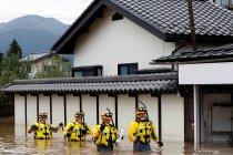 Pencarian korban pascaterjangan Topan Hagibis di Jepang