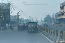Kabut asap masih selimuti Kota Jambi meski sempat diguyur hujan
