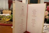 Menu Kuliner dalam silaturahim terakhir Kabinet Kerja