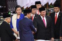 Ketua MPR sapa khusus Megawati dan SBY saat pelantikan presiden