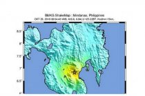 Gempa magnitudo 6,9 di Mindanao Filipina terasa hingga Sulut