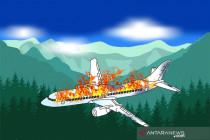 Pesawat milik Ariana Airlines jatuh di Afghanistan