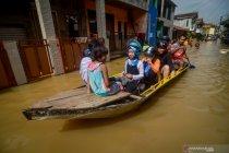 Banjir luapan sungai Citarum di kabupaten Bandung