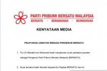Mahathir mundur sebagai Ketua Partai Bersatu