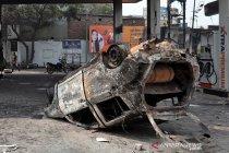 Kondisi kota New Delhi usai bentrok kubu pendukung dan penolak UU Kewarganegaraan
