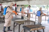Cegah COVID-19, Wali Kota Magelang pimpin penyemprotan disinfektan
