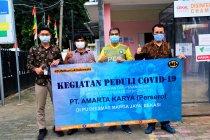 Amarta Karya sumbang perlengkapan medis ke Puskesmas Bekasi