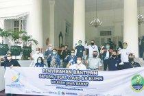 Jasa Tirta II bersama Satgas Covid-19 BUMN Wilayah Jawa Barat Serahkan Bantuan APD