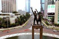 (AERIAL) Suasana Jakarta menjelang penerapan PSBB