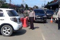 Penjagaan di pintu masuk Kabupaten Barito Kuala diperketat