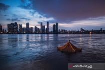 Penampakan banjir di Wuhan akibat luapan sungai Yangtze