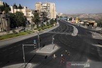 Suasana Kota Yerusalem di tengah karantina nasional COVID-19 kedua kalinya