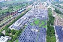Depo kereta metro di Shanghai diubah jadi pembangkit listrik tenaga surya