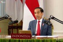 Presiden Jokowi hadiri pertemuan virtual forum ekonomi dunia