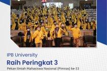 IPB University raih peringkat 3 Pekan Ilmiah Mahasiswa Nasional 2020